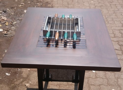 Barbecue Grill On Table
