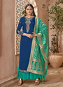 Party Wear Palazzo Suits With Banarasi Dupatta