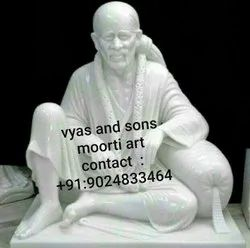 Masterpiece Of Sai Baba Idol From Marble