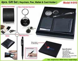 4pcs.Gift Set(Keychain,Pen,Card Holder) H-910
