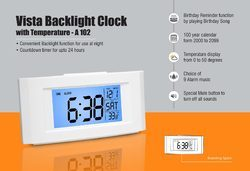 Back Light Clock With Temperature
