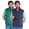 Blue & Green Vedache Reversible Sleeveless Jacket