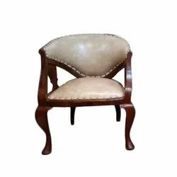 Laminated Plywood Wooden Cushion Chair, Warranty: 5 Years