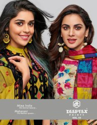 Unstitched Deeptex Miss India Cotton Dress Materials