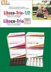 利波西-格列美脲三联片,沃格利波糖和盐酸二甲双胍片,处方,治疗:糖尿病