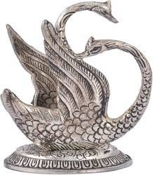 White Metal Silver Plated Swan