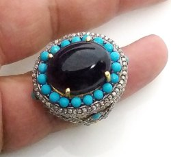 Amethyst Turquoise Ring