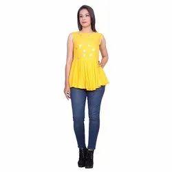 Yellow Crepe Top