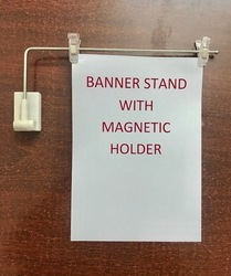 Banner Stand With Magnetic Holder