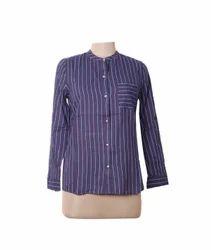 Ladies Check Print Shirt