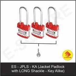 Jacket Padlock With Long Shackle - Key Alike