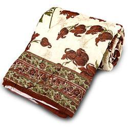 Floral Hand Block Single Bed Quilt 104