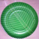 Green Round Laminated Disposable Paper Plate, Packaging Type: Packet, 50-100