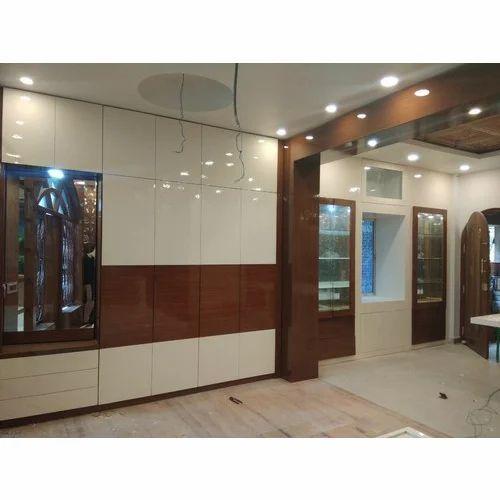 Living Room Interior Wardrobe Designing Service