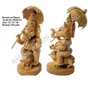 White Wood Ganesha Statue