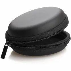 Leather Zipper Headphone Case