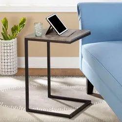 Metal & Wood C Table
