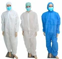 Disposable Coverall Suit PPE With Hood Breathable Nonwoven Full Body Protection Suit