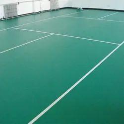 Green Pvc Indoor Sports Flooring