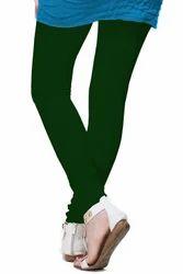 Plain Green Color Cotton Leggings