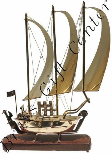 Wooden Brass Combination Ship Model
