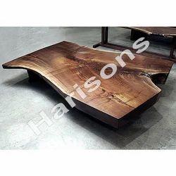 Brown Sheesham Wood Flat Log Table