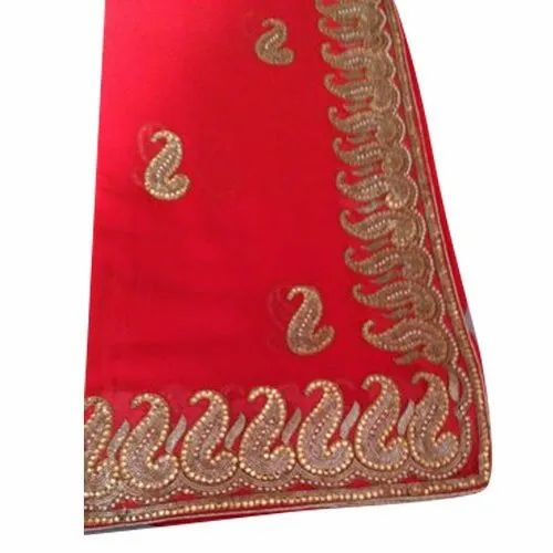 Chiffon Zari Designer Fancy Saree, 6.3 m (with blouse piece), Packaging Type: Plastic Bag