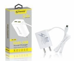 Trrops Tp- 212 3.2 Amp 2usb Adapter Square