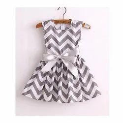 Regular Wear Printed Baby Girl Cotton Fancy Frock