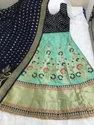 Banarsi Silk Lehenga With Cancan Net