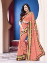 Georgette Printed Pattern Saree With Stitched Blouse