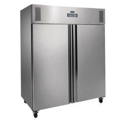Stainless Steel Double Door Blue Star Commercial Refrigerator, Warranty: 2 Years