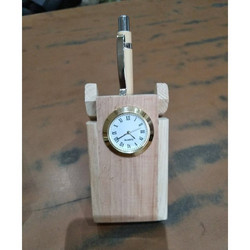 Promotional Pen Stand With Clock