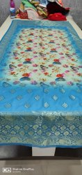 poly jaquard digital printed dupatta