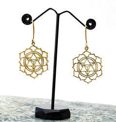 Astro Style Brass Gold Plated Imitation Earrings