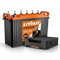 Livfast Maximo Battery Inverter Combo, Voltage: 12 V, Capacity: 150 Ah