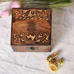 Square Mango Wooden Jewellery Box