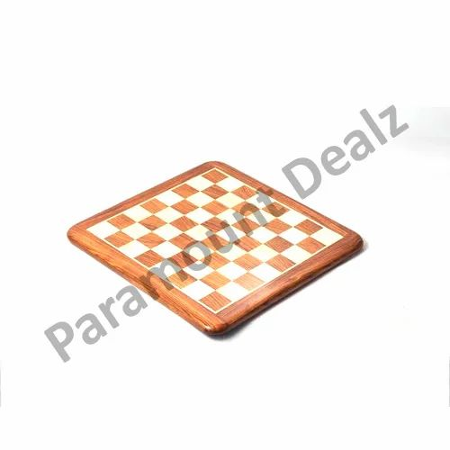 15 Inches Wooden Flat Handcrafted Chess Board