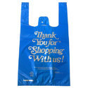 10 X 15 Inches Hdpe Printed Glossy T-shirt Type Plastic Carry Bags For Shopping