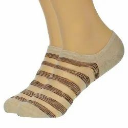 Coton Nat Transfarant Striped Cotton Socks,