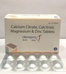 Calcium Citrate, Calcitriol, Magnesium & Zinc Tablets