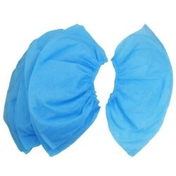 Plastic Blue Disposable Non Woven Shoe Cover