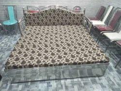 Steel Sofa Cum Bed, Size: 6x6 Feet