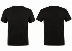 Men's Black Round Neck T-Shirt