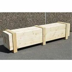 Rectangle Termite Resistant Export Rubber Wood Box for Shipping