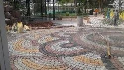 Outdoor Cobble Stones with Lane for Landscaping