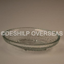 Deshilp Overseas Clear Antique Glass Plate