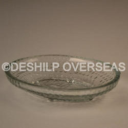 Antique Glass Clear Plate