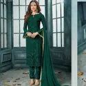 Awesome Designer Embroidery Chudidar Suit