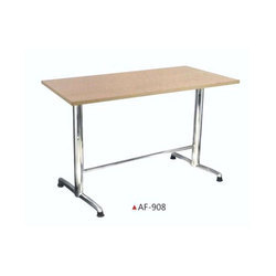 Wooden And Ss Rectangular Table